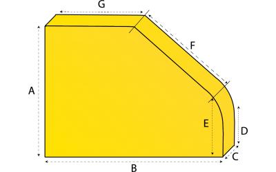 Frans matras met ronde hoek
