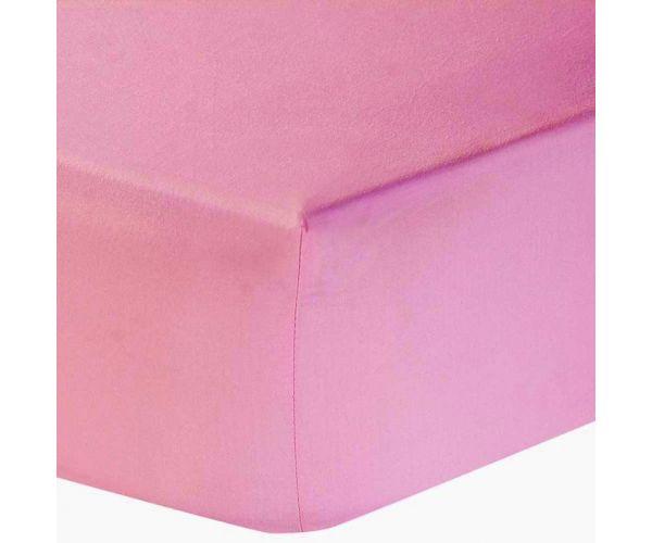 Singel Jersey hoeslaken 140 gsm roze