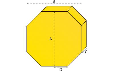 Achthoekig matras
