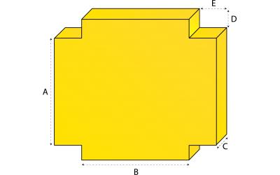 Rechthoekig matras met 4 uitsneden