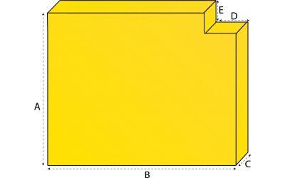 Rechthoekig matras met 1 uitsneden